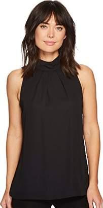 Ellen Tracy Women's Lace Back High Neck Shell
