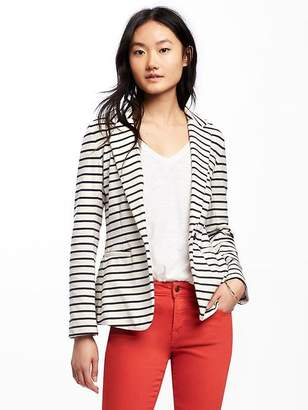 Single-Button Jersey-Knit Blazer for Women $39.94 thestylecure.com
