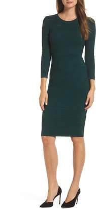 13a90137ff8 Eliza J Stitch Detail Sweater Dress