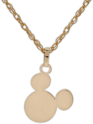 DISNEY Disney 10K Yellow Gold Mickey Head Children's Pendant Necklace $79.99 thestylecure.com