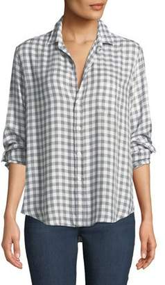 Frank And Eileen Eileen Long-Sleeve Button-Front Gingham Check Modal Shirt