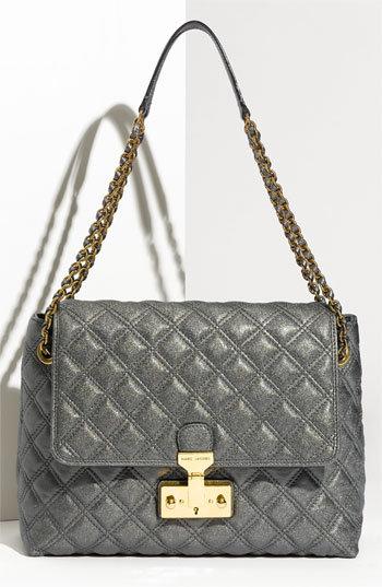MARC JACOBS 'Baroque XL Single' Lambskin Leather Shoulder Bag