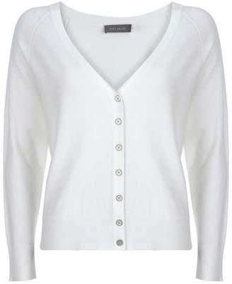 Mint Velvet Ivory Button Front Cardigan