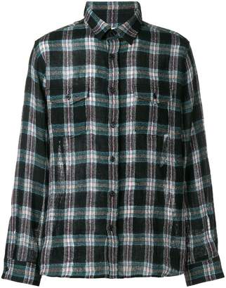 c3278884d0c Saint Laurent plaid print shirt