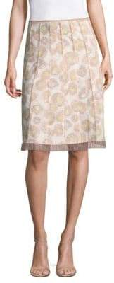 Marc Jacobs Peach-Print Gored Skirt