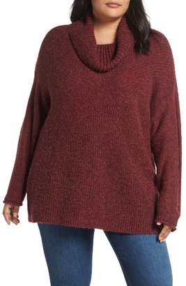 Caslon Mix Stitch Wool Blend Funnel Neck Sweater
