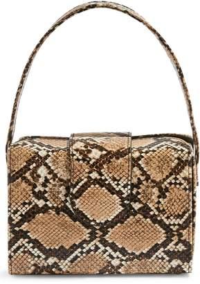 Topshop Snake Embossed Faux Leather Handbag
