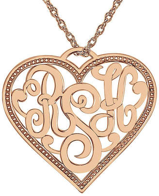 FINE JEWELRY Personalized Monogram Script Heart Pendant Necklace
