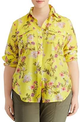 Lauren Ralph Lauren Plus Floral-Print Utility Top