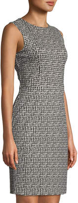 Neiman Marcus Tweed Sleeveles Sheath Dress