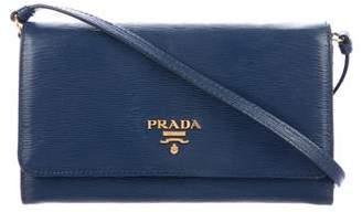 Prada Vitello Move Wallet On Strap