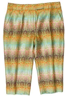 Matthew Williamson Pattern Cropped Pants w/ Tags