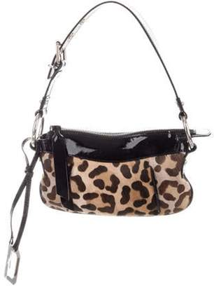 Dolce & Gabbana Animal Print Ponyhair Bag w/ Tags Brown Animal Print Ponyhair Bag w/ Tags