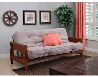 "Better Homes & Gardens Wood Arm Futon With 8"" Coil Mattress, Multiple Colors"