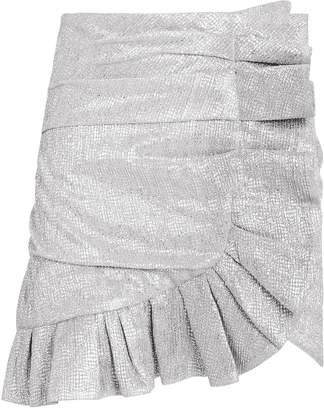 Jonathan Simkhai Sparkle Lame Mini Skirt