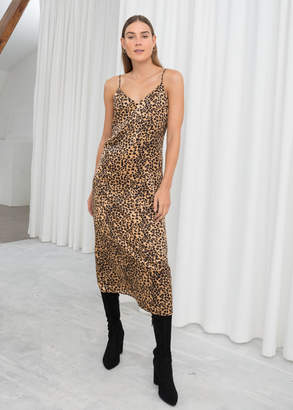 3b31c94aafc3c And other stories Satin Leopard Slip Dress