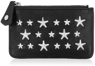 Jimmy Choo NANCY Black Leather Key Holder with Stars