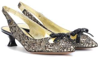 Marc Jacobs Embellished slingback pumps