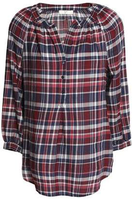 Joie Selima Checked Cotton-Flannel Blouse