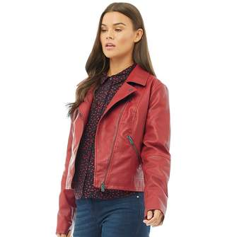 Only Womens Vigga Faux Leather Biker Jacket Scooter