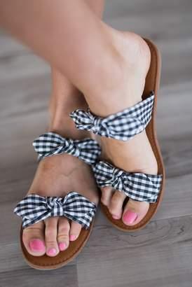 Sloan Gingham Sandals