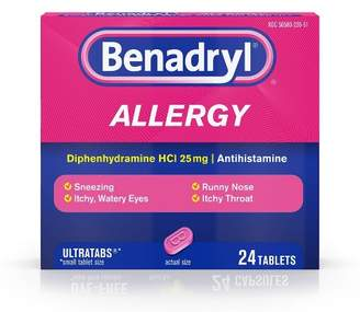 Benadryl Ultratabs Allergy Relief Tablets - Diphenhydramine HCl - 24ct