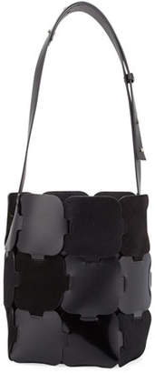 Paco Rabanne 1601 Patchwork Medium Hobo Bag, Black