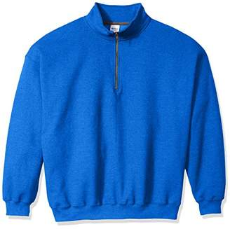 Gildan Men's Fleece Quarter-Zip Cadet Collar Sweatshirt Extended Sizes