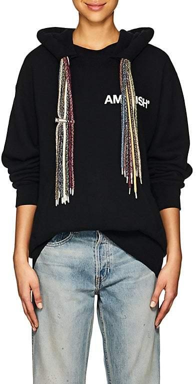 Ambush Women's Multi-String Cotton French Terry Hoodie