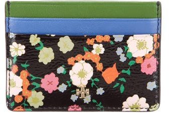 Tory Burch Tory Burch Floral Print Card Holder