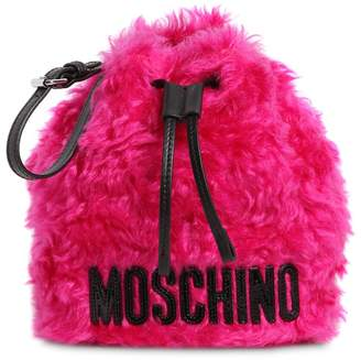 Moschino Bucket Mohair Pouch
