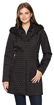 Lark & Ro Women's Shawl Collar Quilted Jacket