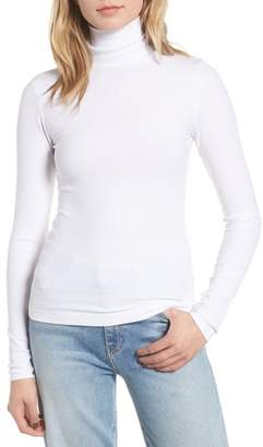 7 For All Mankind Rib Knit Turtleneck Tee