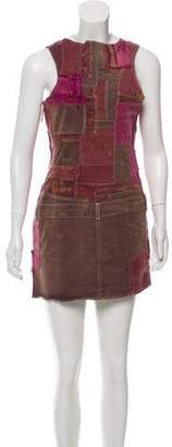 Isabel Marant Distressed Sleeveless Denim Dress