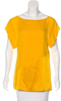Diane von Furstenberg Short Sleeve Silk Top