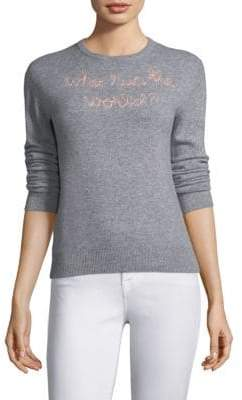 "Lingua Franca Cashmere ""Who Run The World"" Crewneck"