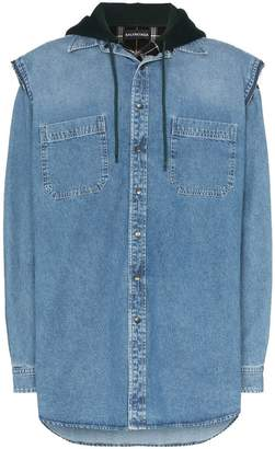 Balenciaga Layered denim shirt