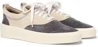Fear Of God 101 Leather-trimmed Suede Sneakers - Gray