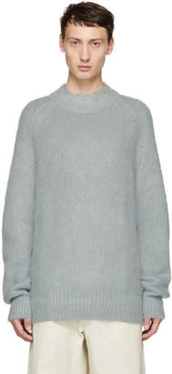 Jil Sander Blue Combed Fuzzy Sweater