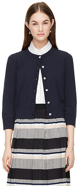 Jewel button cropped cardigan