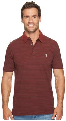 U.S. Polo Assn. Classic Fit Striped Short Sleeve Pique Polo Shirt Men's Short Sleeve Pullover