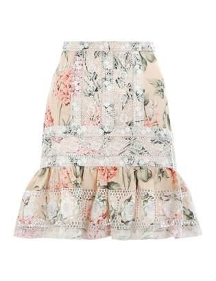 Zimmermann Prima Hydrangea Skirt