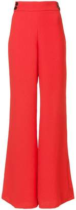 Veronica Beard flared high-waisted trousers