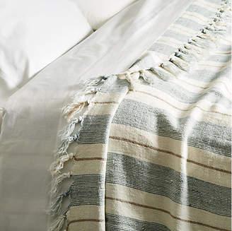 Pom Pom at Home Laguna Linen Blanket - Ocean/Natural