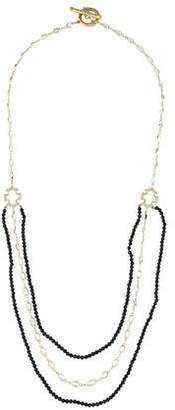 Jude Frances 18K Topaz, Black Spinel & Diamond Multistrand Necklace