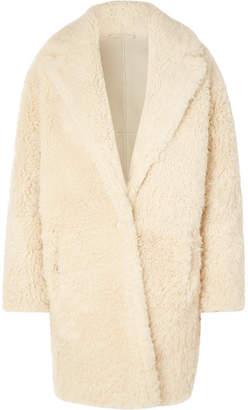 IRO Sunday Shearling Coat - Cream