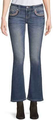 Miss Me Women's Embroidery Kick-Flare Jeans
