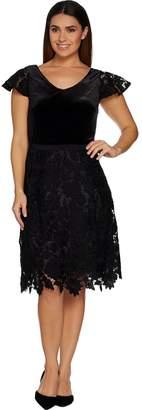 Isaac Mizrahi Live! Special Edition Velvet & Lace Dress