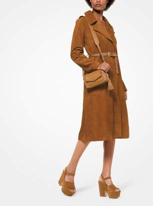 MICHAEL Michael Kors Calf Suede Trench Coat