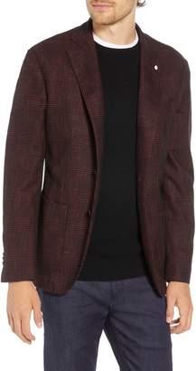 L.B.M. 1911 L.B.M 1911 Classic Fit Plaid Cotton Blend Sport Coat